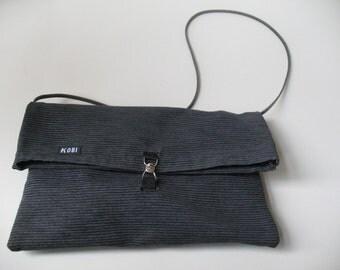 Design, black, shoulderbag with leather strap