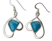 Kingman Turquoise and Sterling Silver Earrings  eturf2643