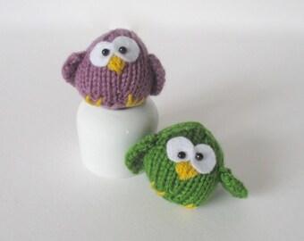 Little Owl toy knitting pattern