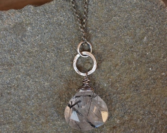 Tourmalated Quartz Sterling Silver Necklace