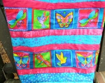Laurel Burch Hummingbirds and Butterflies Market Bag