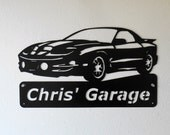 Personalized 1998 2002 Pontiac Firebird Trans Am Man Cave Metal Sign Garage Art Satin Black