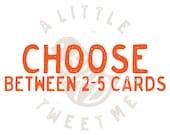 "Greeting card set. Your choice Greeting card set. 5x7"" notecards. Choose between 2-5 cards."