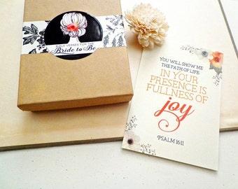 Bride Christian Gift. Scripture Cards Gift for Women. Memory Bible verse gift idea. Desk Scripture gift set. BV500