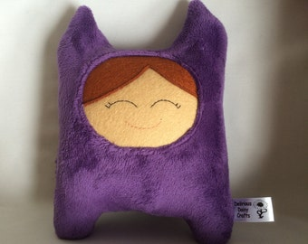 Purple Cuddly Creature * Toy Wolf * Plush * Plushies * Plush toy * Soft toy * Cute toy * Handmade Plush toy * New Baby Gift *