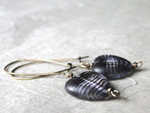 SALE Jewelry, Heart Me Earrings, Lavender Earrings, Dangle Heart Earrings, Brass, Hoops, Vintage Look, Purple, Accessories
