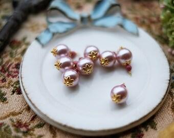 1 pcs of Big pink pearl beads beads pendant