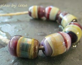 Organic HANDMADE LAMPWORK  SRA Artisan  Designer Beads Glass By Leese