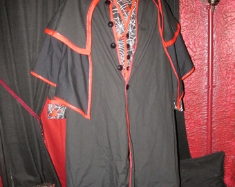 Haunted House Spider Cloak set Costume Cosplay Large