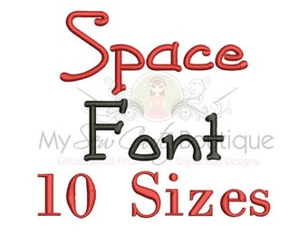 Boys Machine Embroidery Font - 10 Sizes - BX Embroidery Font Included