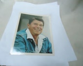 Vintage President Ronald Reagan Official White House Color Photo by Jack Knightlinger, collectable