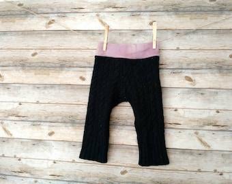 Hybrid Wool Longies - 9 months - Cloth Diaper Cover