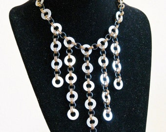 Industrial Apocalyptic Zinc Washer Necklace