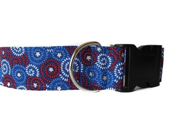 4th of July Dog Collar, Stars and Stripes, American Flag Dog Collar, Wide Dog Collar, Quick Release Dog Collar, Independence Day Dog Collar