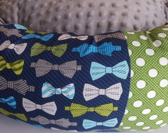 the BIG TOP PEEWEE Bowtie Donut Dog Bed- small, medium, large bow tie
