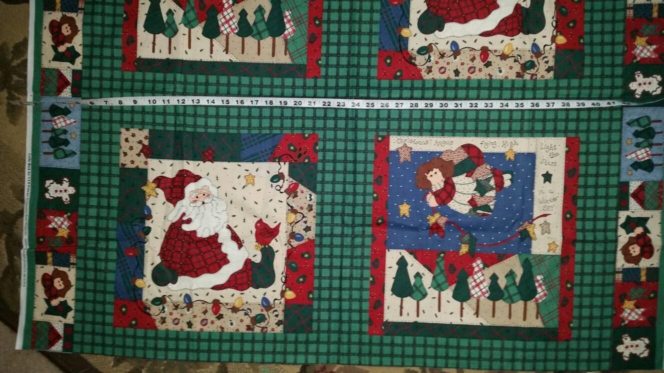All Aglow Borealis Digital Panel cotton quilt fabric Hoffman Christmas Tree