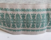 """SALE: 5 Yards New Hampshire Jacquard Ribbon  - Sewing Gift Wrapping Teal or green Trim  1 3/4"""""""