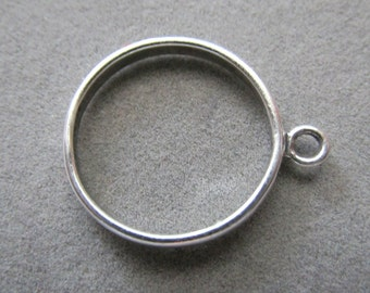 Solid Sterling Silver Loop Ring Size 9