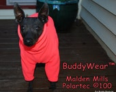"""BuddyWear Malden Mills Polartec® 100 Great 1st Layer Thermals for Layering or stand alone suit, will fit all dogs up to 18"""""""