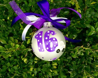 New Drive Ornament Sweet Sixteen Birthday with Car, Personalized Birthday - Hand Painted Glass Christmas Ornament - I'm Driving, New Car