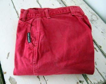 Vintage Rocky Mountain High Waisted Red Jeans
