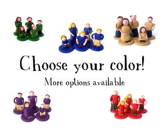 One Agricola Family -- set of 5 people, choose your color