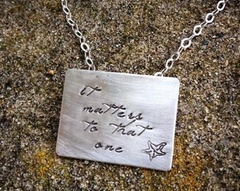 20% OFF - The Starfish Story Necklace - Square Poetry Version