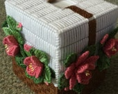 Basket of Mauvy Daisies Tissue Box Cover