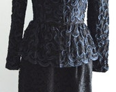 Melba Boutique Hollywood Vintage 60s Lace & Ribbon skirt and Jacket set