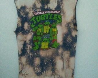 Teenage Mutant Ninja Turtles TShirt / TMNT / Muscle Tee / Distressed/ Cartoon / Graphic / Indie / Grunge / RockNRoll / Unisex / Women / Men