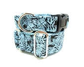 """Houndstown 1"""" Mod Fern Buckle or Martingale Collar, Any Size"""