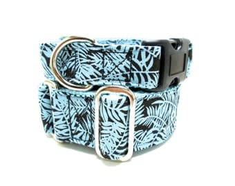 "Houndstown 1"" Mod Fern Buckle or Martingale Collar, Any Size"