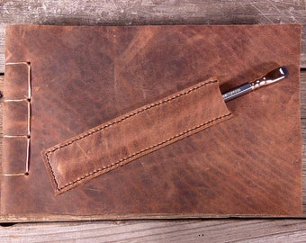 The Plein Air: Bison Leather Sketchbook