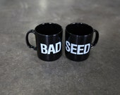 Pair of official NICK CAVE and the Bad Seeds coffee mugs ceramic black tea cups