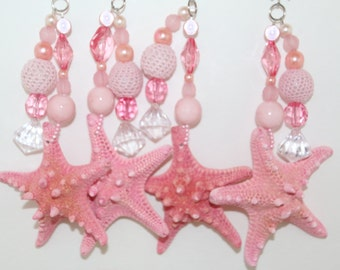 Knobby Pink Starfish Tablecloth Weights Set of 4
