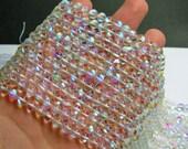 Mystic aura quartz - 6mm round - Holographic quartz - 62 Beads - full strand - RFG835