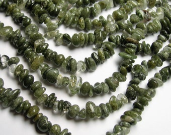 Lodolite - 36 inch full strand - pebble - chip stone - PSC283