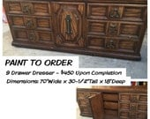 RESERVED jennifer ~ Vintage Buffet/ Credenza/ Dresser / Tv Media Cabinet ~ ASCP ~ Local Pick Up San Diego