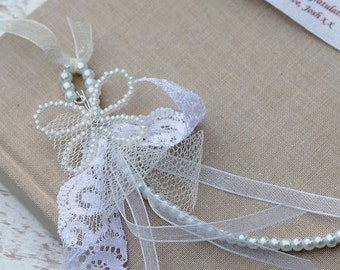 Pearl Butterfly Bridal Lucky Horseshoe