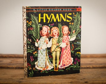 Hymns, Little Golden Book 392, Corinne Malvern, Religious Music, Vintage 50s-60s