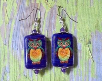 Owl Earrings (2590)
