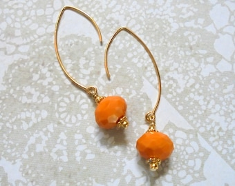 Tangerine and Gold Earrings (2963)