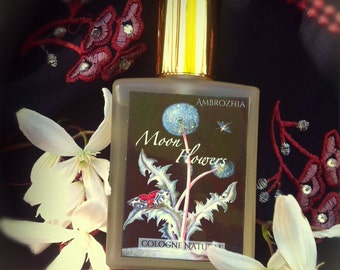 Natural Cologne MOON FLOWERS jasmine sambac, tuberose, frankincense, sandalwood, oudh, rockrose, blood orange, spices