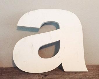 """Vintage large metal letter """"a"""""""