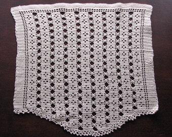 Crocheted Doily, Vintage Doily, Ecru Doily