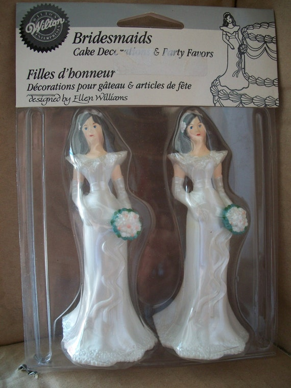 Old Lady Knitting Cake Topper : Wilton pair of bridesmaids or bride cake toppers pearl