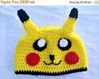 Back to School SALE Pikachu Costume--Pikachu Hat--Pokemon Go--Pokemon Costume--Pikachu Baby--Pikachu Plush--Pokemon Halloween Costume