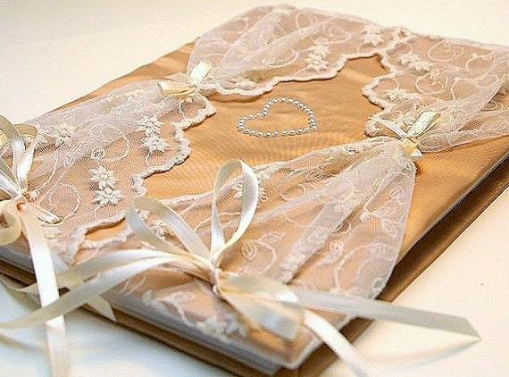 Wedding Guest Book - Romantic, Retro,  Elegant Weddings