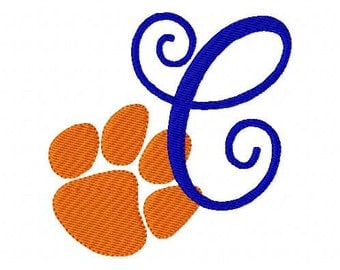 Paw Print // Tiger // Monogram Embroidery Font Design Set, Machine Embroidery Designs, Embroidery Font // Joyful Stitches
