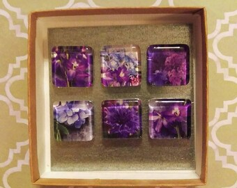 Upcycled Magnets - Purple Passion